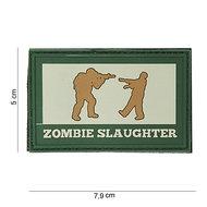 Patch Zombie slaughter groen bruin pvc met klittenband