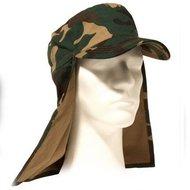 Veld pet leger met nek flap in groen, zwart khaki of camouflage