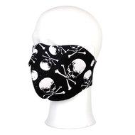 Masker doods hoofd doodskop skull and bones half schedel en botten
