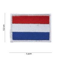 Holland embleem patch van stof met klittenband