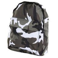 kinder leger rugzak camouflage grijs zwart wit