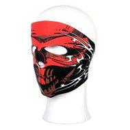 masker skull doodskop rood zwart